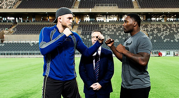 [Video] Alexander Gustafsson vs. Anthony Johnson Open workout and Staredown