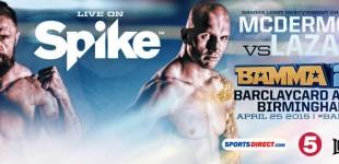 BAMMA 20 results: Lazarz captures light-heavyweight title