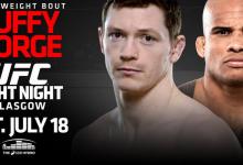 Irish standout Joe Duffy faces experienced Brazilian Ivan Jorge at Glasgow's UFC Fight Night