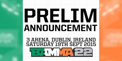 BAMMA 22: Conor Cooke among six fighters added to Dublin preliminary card