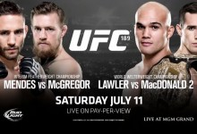 Jose Aldo out of UFC 189 title fight, Conor McGregor faces Chad Mendes for the interim belt