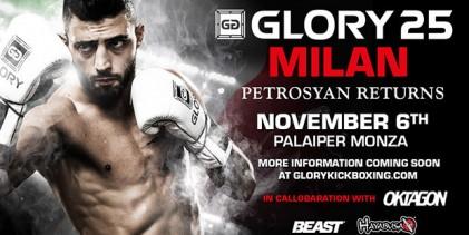 Giorgio Petrosyan will face Josh Jauncey at GLORY 25 Milan