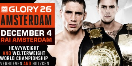 GLORY 26: Rico Verhoeven and Nieky Holzken to defend titles in Amsterdam