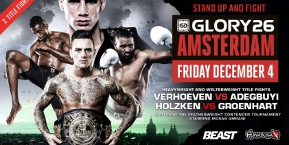 Holzken vs Groenhart one of two title fights added to Glory 26