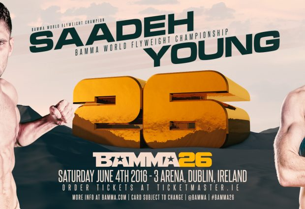 Rany Saadeh set to defend his flyweight title against Andy Young at BAMMA 26